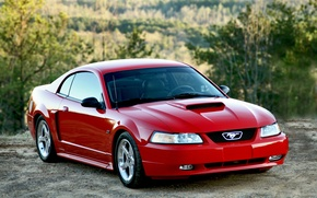 Картинка Mustang, Ford, red, 2004