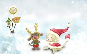 Обои детство, новый год, зима, снег, сказка