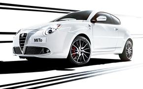 Картинка Alfa Romeo, MiTo, передок, Verde, Quadrifoglio, альфа Ромео, Ми Ту
