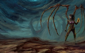 Картинка Sarah Kerrigan, Сара Керриган, Королева Клинков, StarCraft 2 Heart of the swarm
