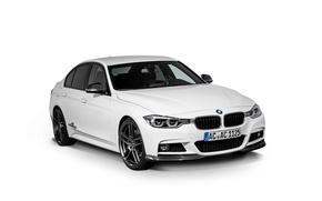 Картинка бмв, BMW, белый фон, седан, F30, AC Schnitzer, 3-Series