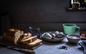 Картинка eggs, sugar, bread