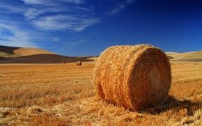 Обои стог, сено, поле