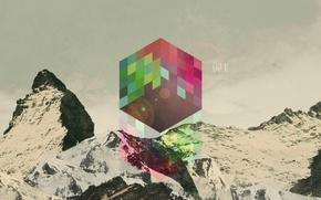 Картинка цвета, абстракция, фон, обои, графика, арт, куб