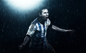 Картинка Футбол, Argentina, Аргентина, Lionel Messi, Football, Messi, Месси, Leo Messi, FuriousGFX