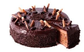 Обои торт, кофейный, десерт, сладкое, зерна кофе, глазурь, крем, еда, шоколадный, стружка