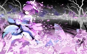 Картинка девушка, обои, аниме, сакура