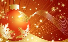 Обои праздники, рождество, новый год, шарик