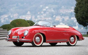 Картинка фон, Porsche, Порше, классика, передок, 1955, Speedster, by Reutter, 356, Спидстер