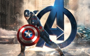 Картинка Marvel, Капитан Америка, Captain America, Крис Эванс, Стив Роджерс, Avengers: Age of Ultron, Мстители: Эра …