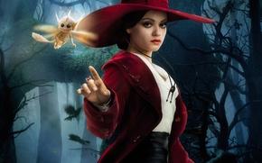 Картинка лес, девушка, шляпа, ведьма, Mila Kunis, Мила Кунис, Oz: The Great and Powerful, Теодора, Оз: …