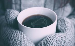 Картинка чай, кружка, варежки