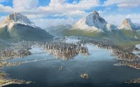 Картинка вода, пейзаж, Avatar, Аватар, landscape, water, The Legend of Korra, Легенда о Корре, Republic City, …
