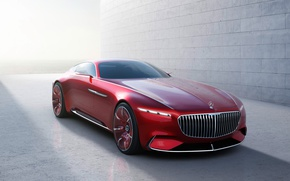 Обои car, wallpaper, Mercedes, red, ice, wall, Maybach, beauty, comfort, luxury, automobile, vehicle, official wallpaper, desing, ...