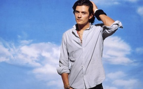 Картинка мужчина, рубашка, Orlando Bloom