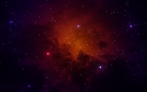 Обои космос, туманность, звёзды