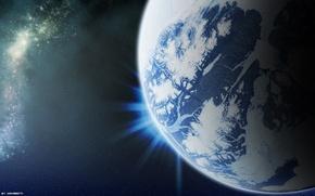 Обои Space, планета, звезды