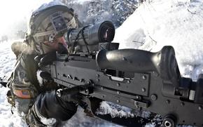 Картинка оружие, солдат, M240B, machine gun