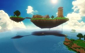 Картинка море, природа, красота, Minecraft