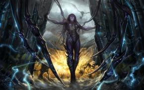 Обои Queen, StarCraft 2, Heart of The Swarm, Sarah Kerrigan, Blizzard Entertainment, Video Game, Queen of ...