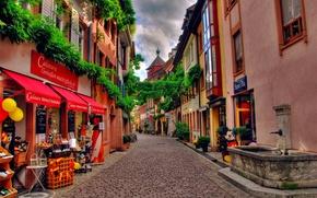 Картинка мостовая, швейцария, улочка, магазинчики