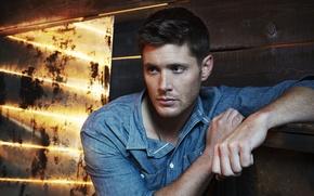 Картинка взгляд, актер, мужчина, сериал, рубашка, Supernatural, Jensen Ackles, Сверхъестественное, Dean Winchester, Дин Винчестер, Дженсен Эклс, …
