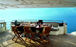 Картинка море, пейзаж, отдых, вид, яхта, горизонт, relax, люкс, Azimut luxury yacht