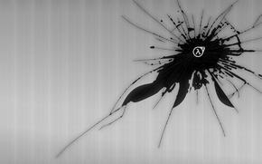 Картинка лямбда, Half-life, полосы, трещины