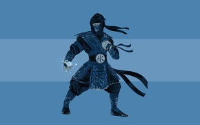 Картинка холод, ниндзя, Mortal Kombat, Sub-Zero, Саб-Зиро