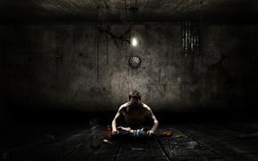 Обои темнота, человек, Одиночество