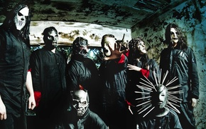 Картинка Slipknot, nu-metal, metal, слипнот, ню-метал, shawn crahan , craig jones