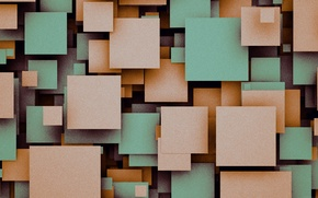 Картинка квадраты, геометрия, design, color, material