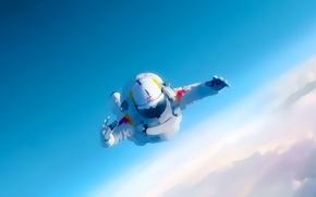 Картинка рисунок, астронавт, astronauts, падение