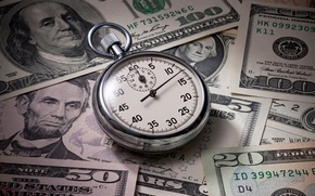 Картинка money, dollars, watch
