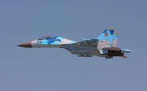 Обои истребитель, многоцелевой, Flanker, Су-27UB