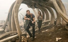 Обои фантастика, Kong: Skull Island, Бри Ларсон, Конг: Остров черепа, Captain James Conrad, Том Хиддлстон, Tom ...
