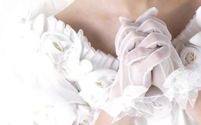 Картинка руки, перчатки, белые, невеста