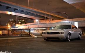 Картинка Dodge, Challenger, bridge, Night, R/T
