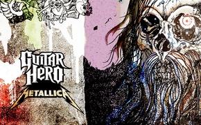 Картинка музыка, череп, music, Rock, Рок, Metallica, трэш-метал, thrash metal, тяжелый рок, hard rock, heavy metal, …