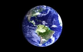 Картинка Земля, поверхность, океаны, материки, планета, космос