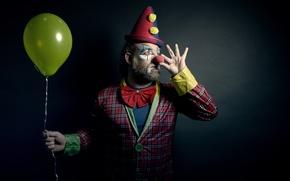 Картинка человек, клоун, шар