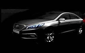 Обои Hyundai, teaser, хундай, Sonata, соната