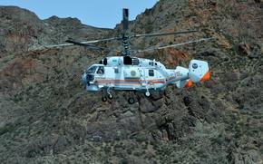 Картинка Горы, Вертолет, Ка-32