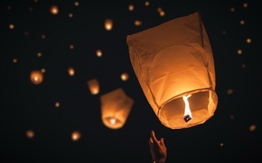 Картинка lampion, light, night