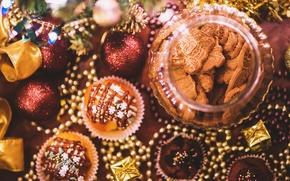 Обои sweet, decoration, biscuits, cookies, christmas, xmas, new year