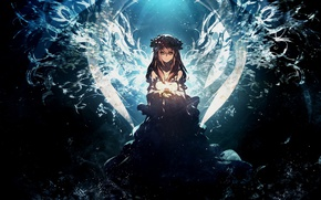 Картинка девушка, ангел, аниме, арт