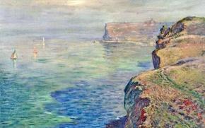 Картинка пейзаж, картина, Клод Моне, Скала в Гранивале близ Фекама