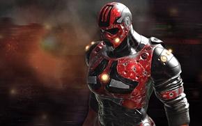 Картинка фантастика, костюм, шлем, мужчина, броня, reaper