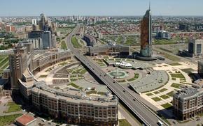 Картинка город, вид, дома, день, Астана
