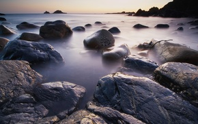 Картинка вода, берег, Камни